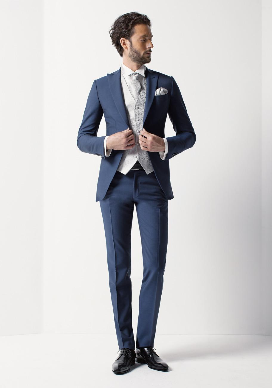 Rd0097 col 10 costumes de mariage costumes gilets et accessoires pour le mari - Costume bleu electrique ...