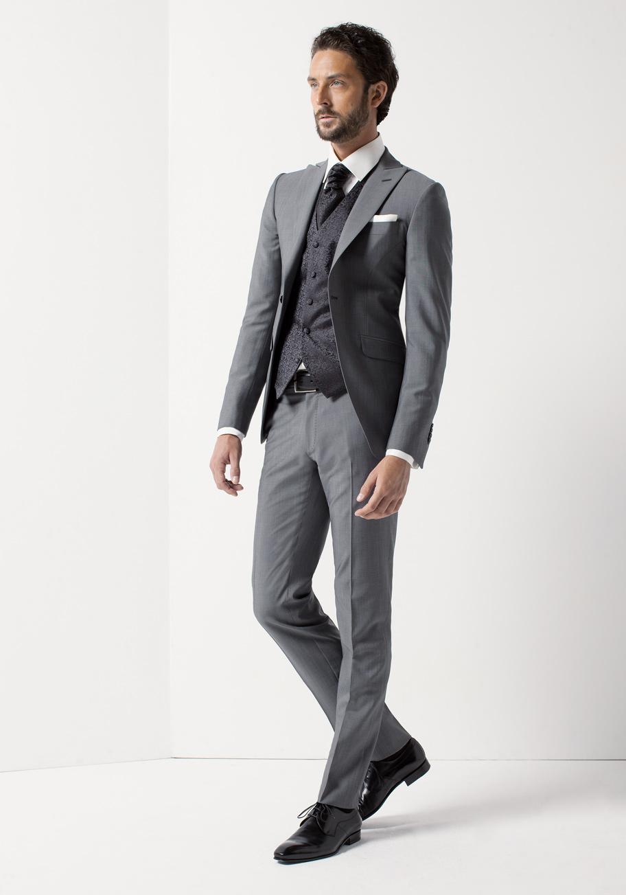 Rd0097 col 03 costumes de mariage costumes gilets et accessoires pour le mari - Costume gris mariage ...