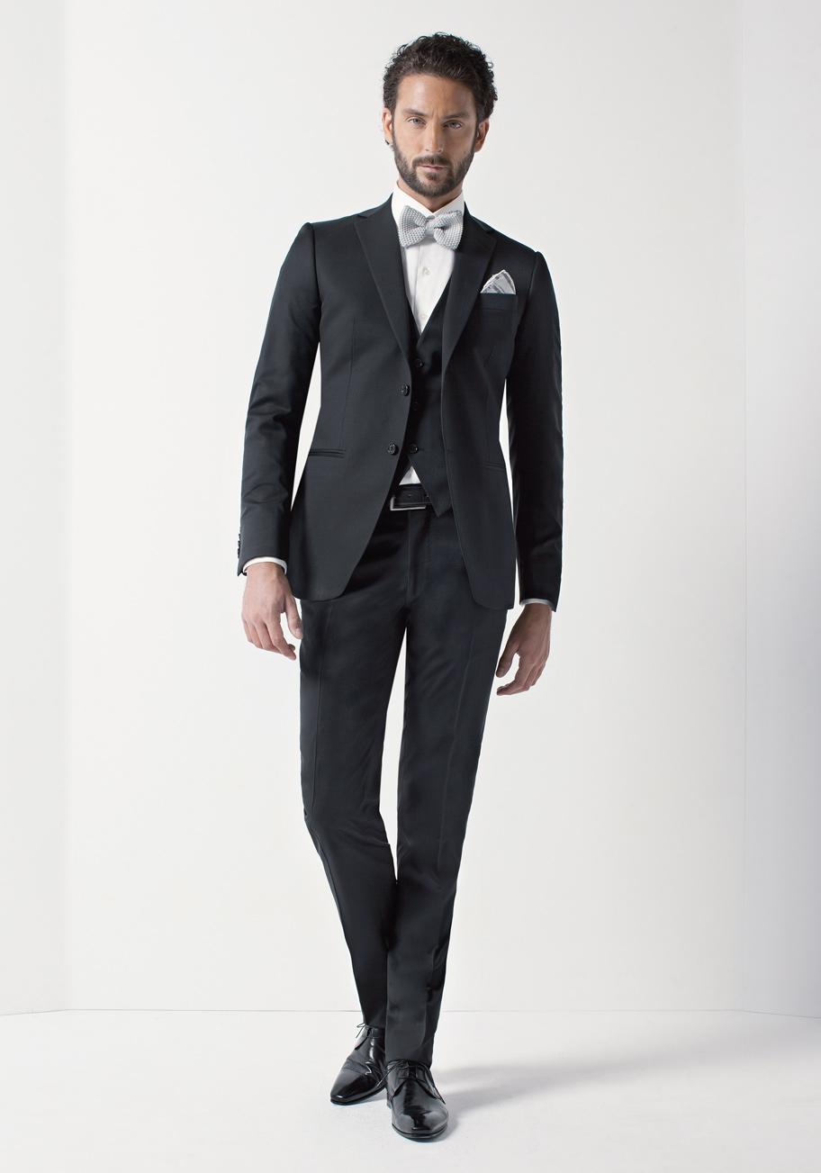 Rd0119 col 04 costumes de mariage costumes gilets et accessoires pour le mari - Costume noir mariage ...