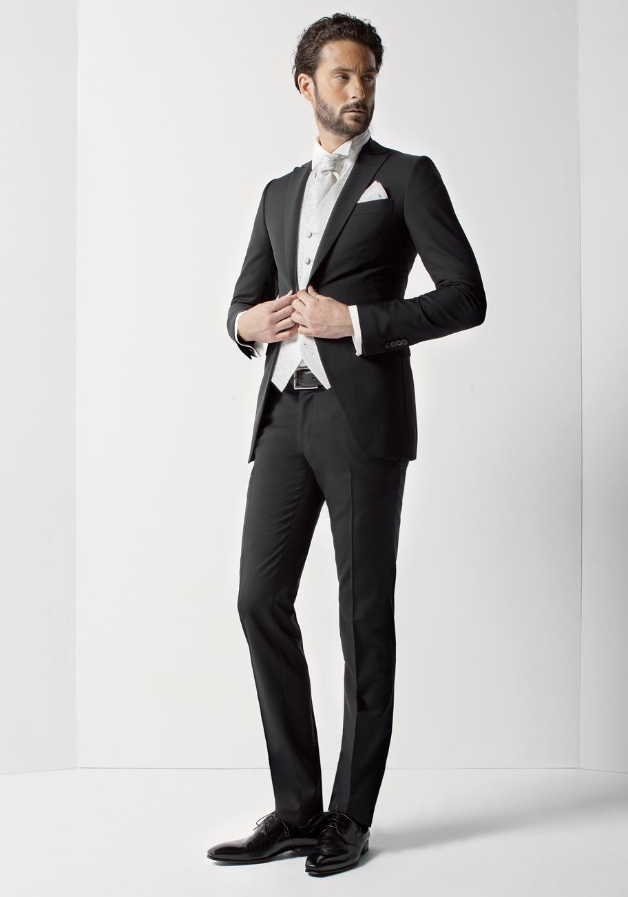 Rd0097 col 04 costumes de mariage costumes gilets et accessoires pour le mari - Costume noir mariage ...
