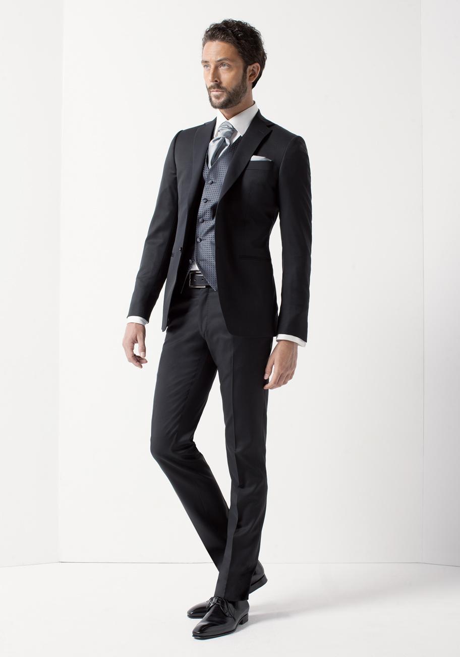 Rd0123 col 04 costumes de mariage costumes gilets et accessoires pour le mari - Costume noir mariage ...