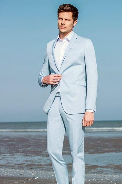 Costume bleu ciel Jean de Sey