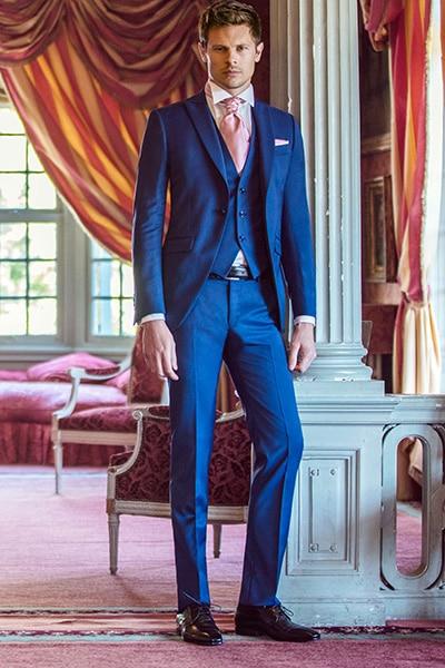 Costume de mariage bleu Jean de Sey