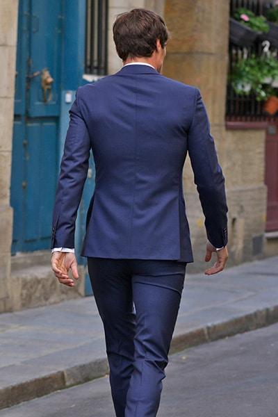 Costume sur mesure bleu Jean de Sey