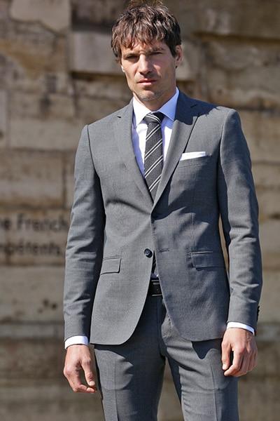 Costume sur mesure gris Jean de Sey