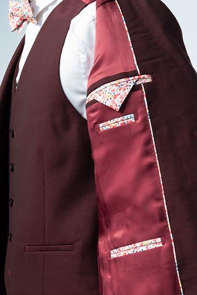Intérieur veste costume sur mesure Jean de Sey